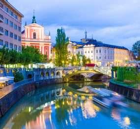 Ljubljana, de hoofdstad van Slovenië