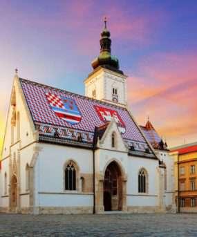 De hoofdstad van Kroatië