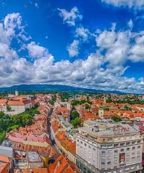 Zagreb, hoofdstad van Kroatië