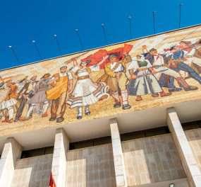 Tirana - de hoofdstad van Albanië