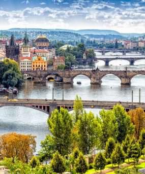 De bruggen over de rivier de Moldau - tsjechie