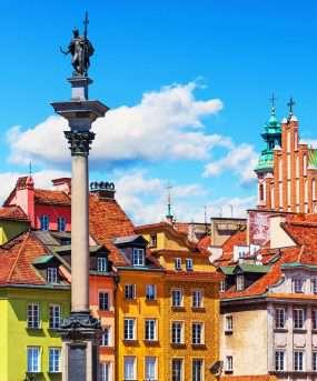 De oude stad van Warschau - Polen