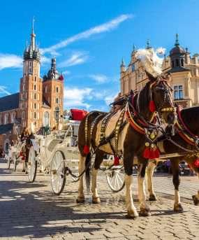 De Grote Markt in Krakau - Polen