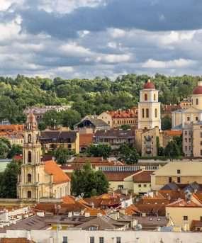 De oude stad Vilnius in Litouwen