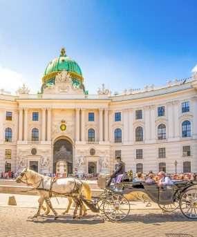 De Hofburg is een paleis in Wenen
