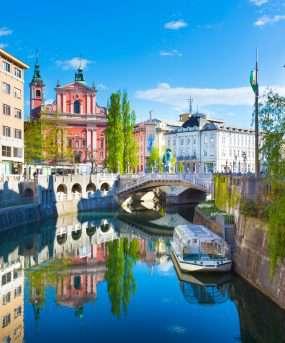 Ljubljana de drievoudige brug
