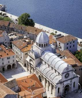 De stad Sibenik - Kroatië