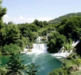 De Krka Watervallen in Kroatie